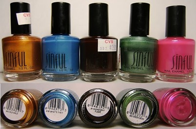 old skool sinful colors, old gold, whats that, maghony flame, green bean fushia ---deez-nailz--- (1)