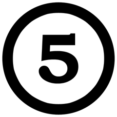 5NumberFiveInCircle