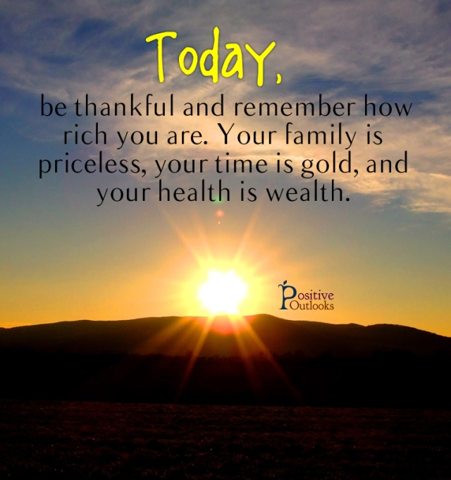today be thankful